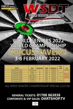 World Senior Darts Poster